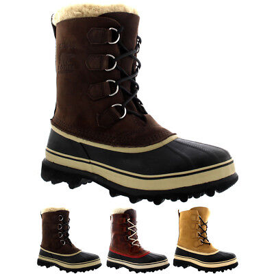 ebe0b48a648 MENS SOREL CARIBOU Winter Snow Waterproof Fleece Lined Mid Calf ...