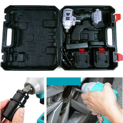 1x 10000MAH 220V Electric Impact Wrench Brushless Installation Power Hand Tool