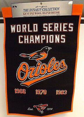 New Baltimore Orioles World Series Banner 2x3 ft Championship Flag Pennant