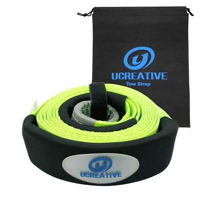 """Heavy Duty 3"""" x 16' Tow Recovery Strap 17600lb Snatch Strap Protective Loops"""