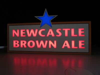 NEW Newcastle Brown Ale Led Opti Neo Neon Beer Bar Light Pub Sign Man Cave Back
