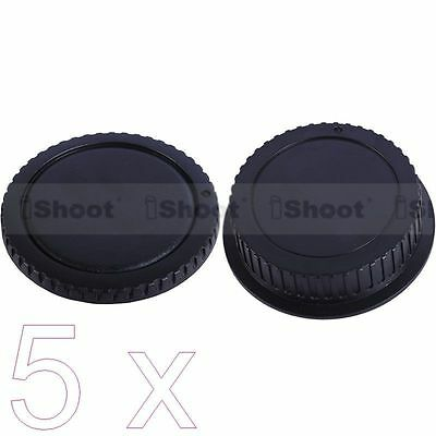 5 New Style Protector Body Cover Rear Cap for Canon EOS DSLR Camera EF EF-S Lens