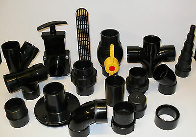 """1.5"""" Solvent Weld Pipe and Fittings. Koi Fish Pond Filter"""