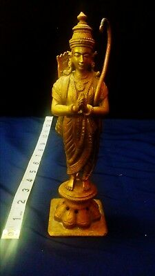 Bronze Statue of Rama - 19th Century, can also be used as incense burner