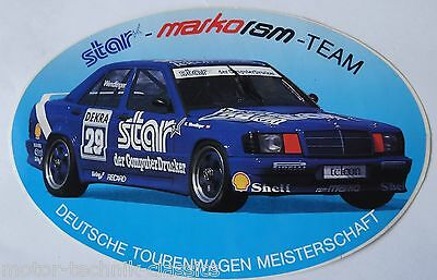 Aufkleber DTM Karl Wendlinger star-Team Mercedes-Benz 190 E Sticker 90er