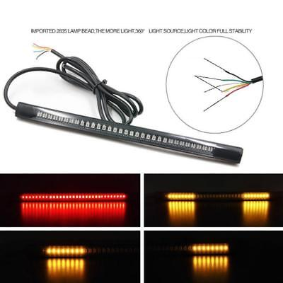 Flexible 12V 48 LED SMD Strip Light Motorcycle Car Tail Turn Signal Brake Lamp y