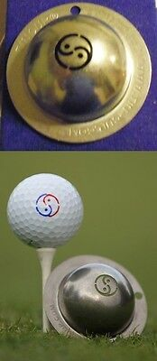 1 only TIN CUP GOLF BALL MARKER -YIN YANG - EASY TO DO