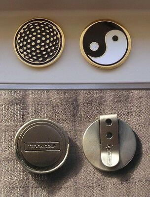 1 Only Yin Yang Golf Ball Marker Plus A Hat Clip(  Hand Crafted & Collectables)