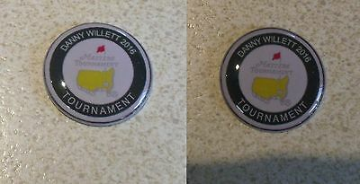 2 only DANNY WILLETT MASTERS CHAMPION 2016 TRIBUTE GOLF BALL MARKERS