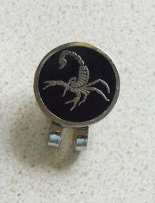 1  only SCORPION GOLF BALL MARKERS WITH NICE  GOLF  HAT CLIP