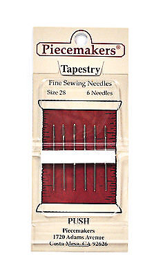 Piecemaker Tapestry Fine Sewing Needles Size 28