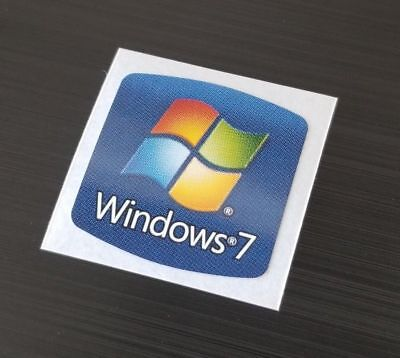Nuovo! Windows 7 Adesivo 18mm x Etichette Originale Custodia Badge Adesivo. USA