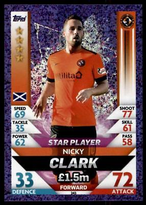 Match Attax SPFL 2018/19 Nicky Clark Dundee United Star Player No. 243
