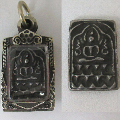 Phra Papha monthon LP Suk Mold side Yant U  Antique very Rare Old Thai Amulet
