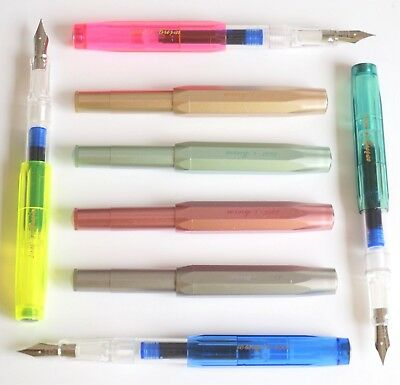 Wing Sung #3007 Mini Fold Up Fountain Pen 8 Colours Blue Ink Fine Nib - UK SOLD
