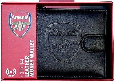 Arsenal Fc Rfid Leather - Football Sports Money Wallet Purse Afc Gift
