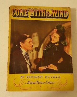 Vintage1940 Gone With the Wind GWTW by Margaret Mitchell Motion Picture Edition
