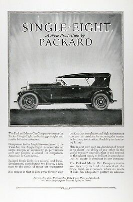 1923 PACKARD EIGHT TOURING Original Vintage Advertisement ~ MSRP $3,640