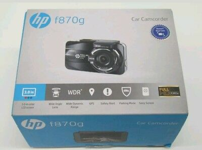 HP Dual Lens Dash Cam for car Full HD 1080P Front & Rear Built-in GPS f870g