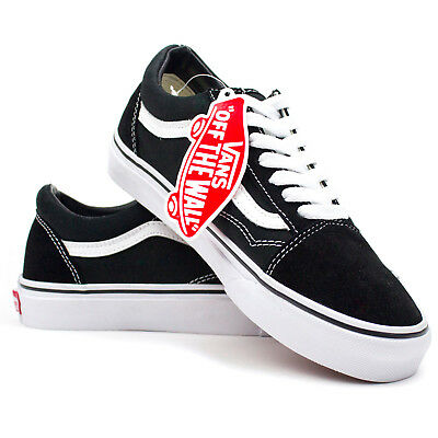 a19b266bcf4a New Vans Old Skool Skate Shoes Classic Canvas Sneakers Black White All MEN  Sizes