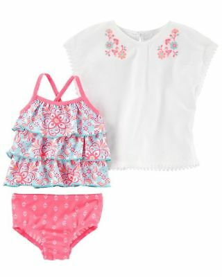 NWT Carters's Sz 18 M 3-Piece Tankini & Cover-Up Set NEW
