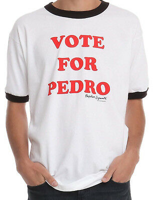 New Licensed Napoleon Dynamite VOTE FOR PEDRO Ringer Costume Tee Shirt S-2XL