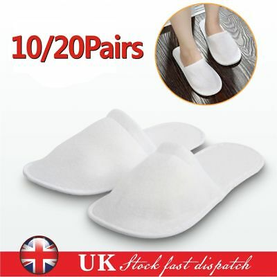 10 pairs SPA HOTEL GUEST SLIPPERS CLOSED TOE TOWELLING DISPOSABLE TERRY TYPE NEW