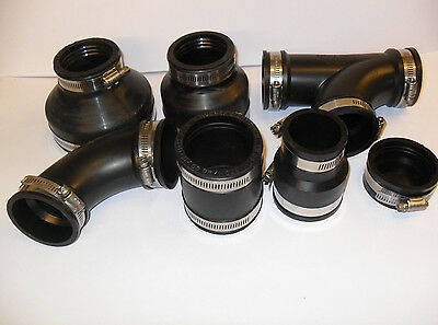 """2"""" Rubber Pipe Fittings. Koi fish pond filter"""