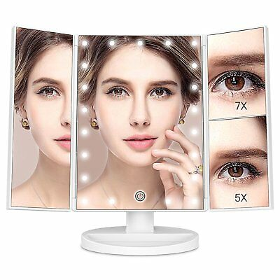 Vanity with 21 LED Lights - 3X/2X Magnifying Makeup Vanity Mirror with Touch