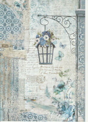 Rice Paper for Decoupage Scrapbook and Craft Cat and Garden 589
