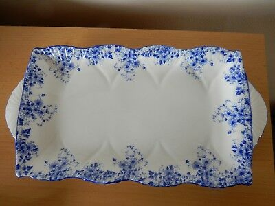 Shelley Dainty Blue pattern rectangular sandwich tray