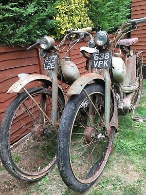 NSU Quickly mopeds x 2 barn find project spares or repair plus parts