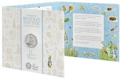 Peter Rabbit 2018 UK 50p Uncirculated Coin Presentation Pack Beatrix Potter
