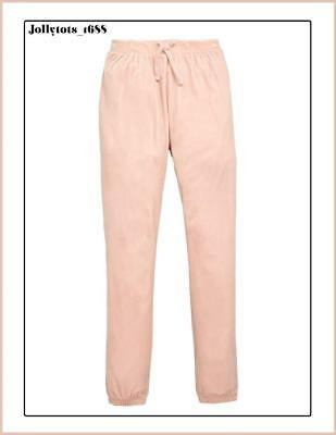 On Trend Quality Pink Velour Jogging Bottoms Size 11-12 Years RRP £19