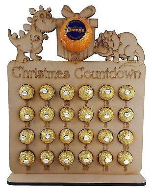 Dinosaur shapes advent  Fits Terry Chocolate Orange & Ferrero Rocher or Lindt Ch