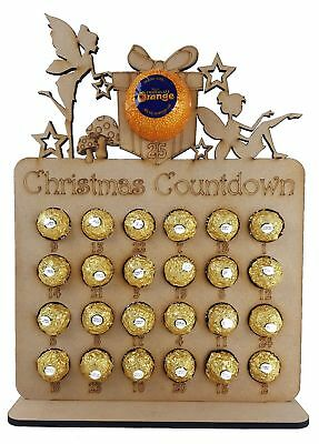 Fairy Shapes advent Fits Terry Chocolate Orange & Ferrero Rocher or Lindt Chocol