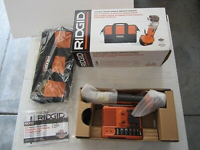 RIDGID 12v RIGHT ANGLE IMPACT DRIVER KIT R822332