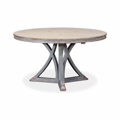 Transitional 54 inch Round Dining Table with French Style