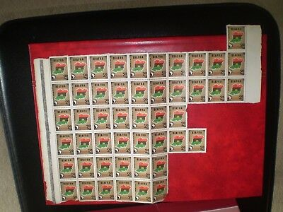 Nigeria Biafra 1968 Independence Anniversary 2d  partial sheet of 47 some damage