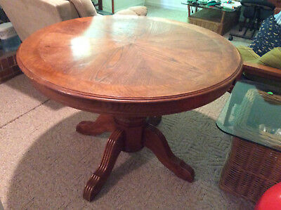 Used Round Oak Dining Table 68 00 Picclick