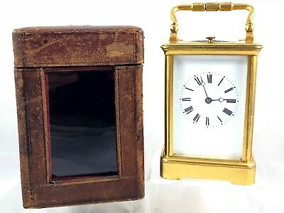 19th CENTURY E MAURICE & CO REPEATING CARRIAGE CLOCK WITH TRAVEL CASE