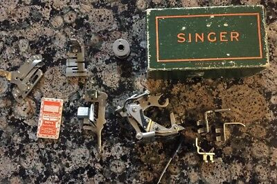 Vintage Singer Sewing Machine Attachments And Boye Antique Sewing Needles
