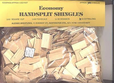 Shingles Hexagon #63A Split Wood 625pcs 1//12 scale dollhouse made in USA