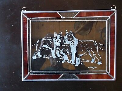 Keeshond - Beautifully Hand engraved Panel by Ingrid Jonsson.