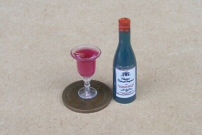 1:12 Plastic Bottle of Wine and Glasses tumdee Doll Home Bar Accessories t3