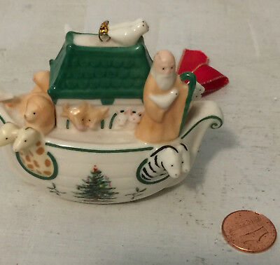 Spode Noah's Ark Christmas Ornament Animals Baby Porcelain China Ceramic