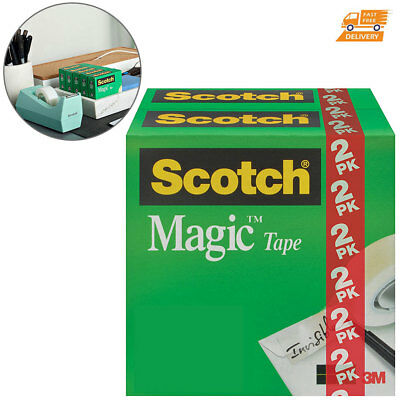 Dispenser Refill Scotch Tape Clear Writeable Matte Finish invisible Sticky Rolls