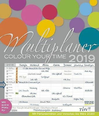 Multiplaner - Colour your time 2019 by Halbleib, Beate-NEU-9783731832591