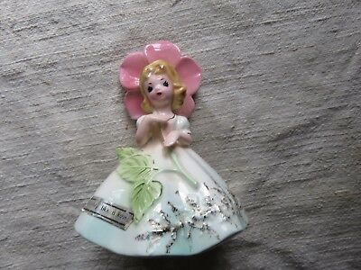 "Josef Originals 4"" Girl Figurine ""Like a Mighty ROSE"" From Flower Girl Series"