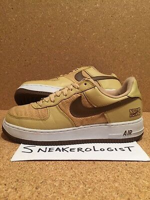 best service fa1ad deffc NIKE AIR FORCE 1 LOW NYC SZ 9 corduroy gold bison white 2003 vintage le rare